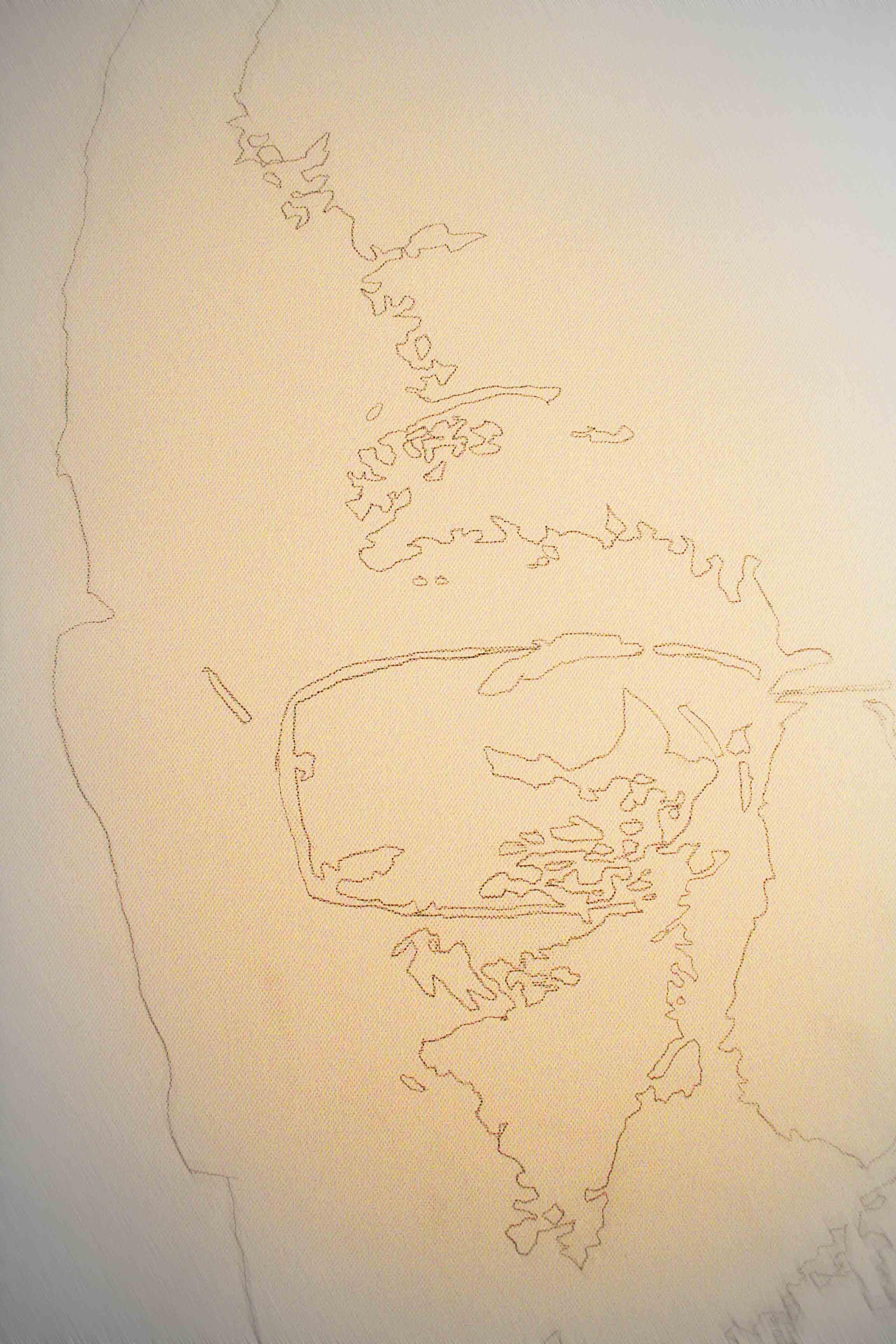 trace du portrait hollandiscount sur la toile