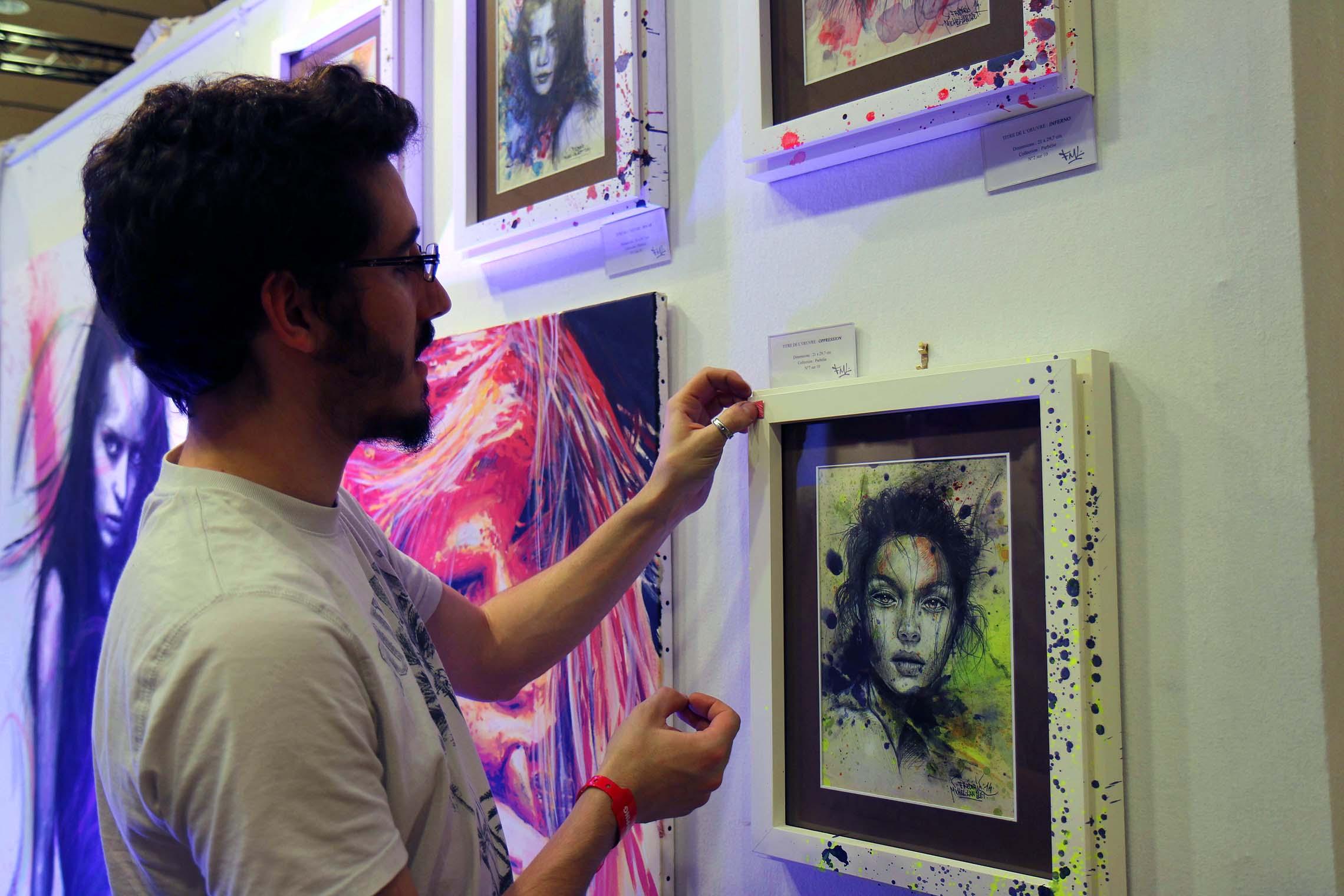 oeuvre vendue pendant l'expositions au carrousel du louvre à paris