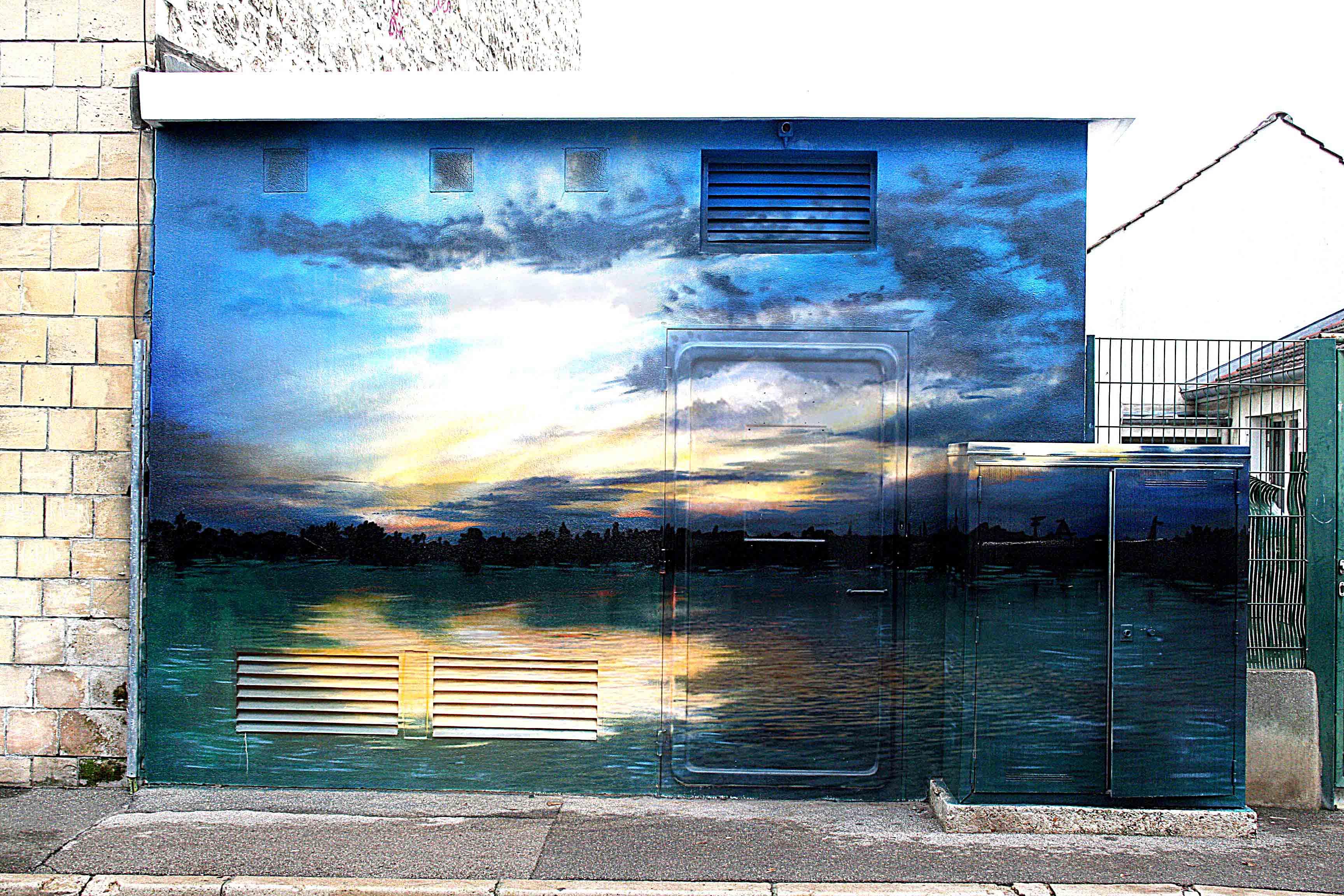 fresques d'un coucher de soleil au bord de la mer à Beaumont sur oise