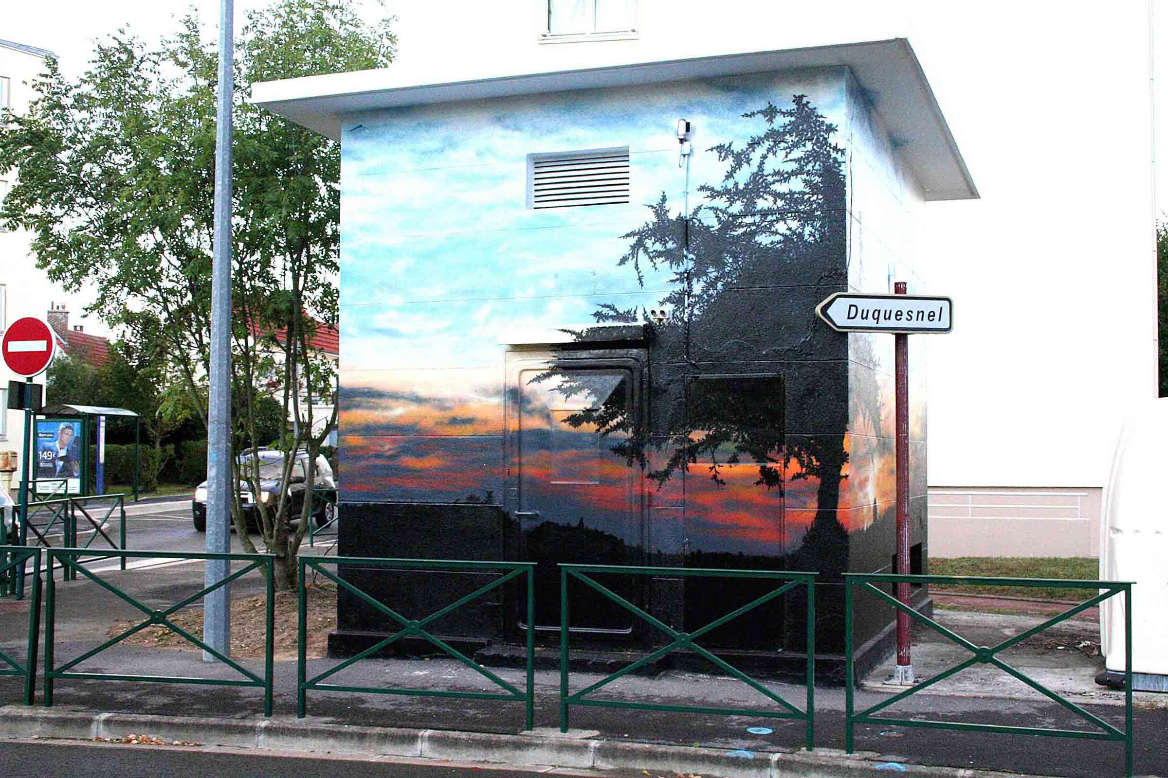 fresques d'un coucher de soleil à beaumont sur oise