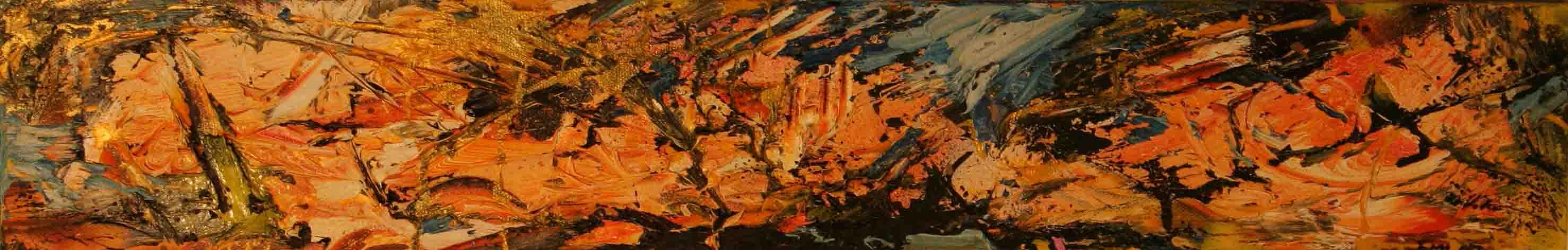 tableau abstrait blancheur noir et sombre blanc en orange et bleu