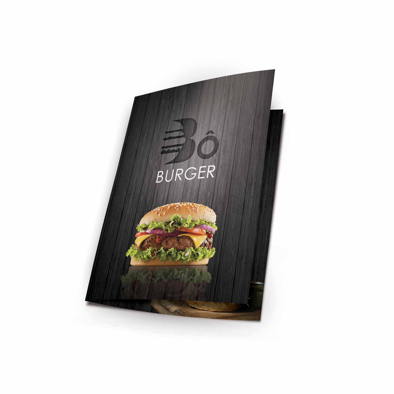 menu documents pour le restaurant bo burger