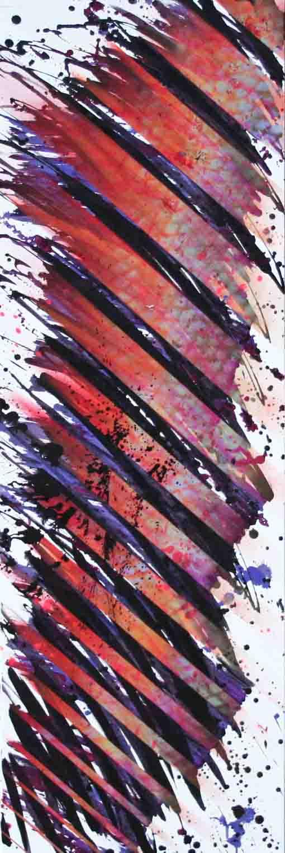 tableau abstrait double jeu en orange blanc et violet