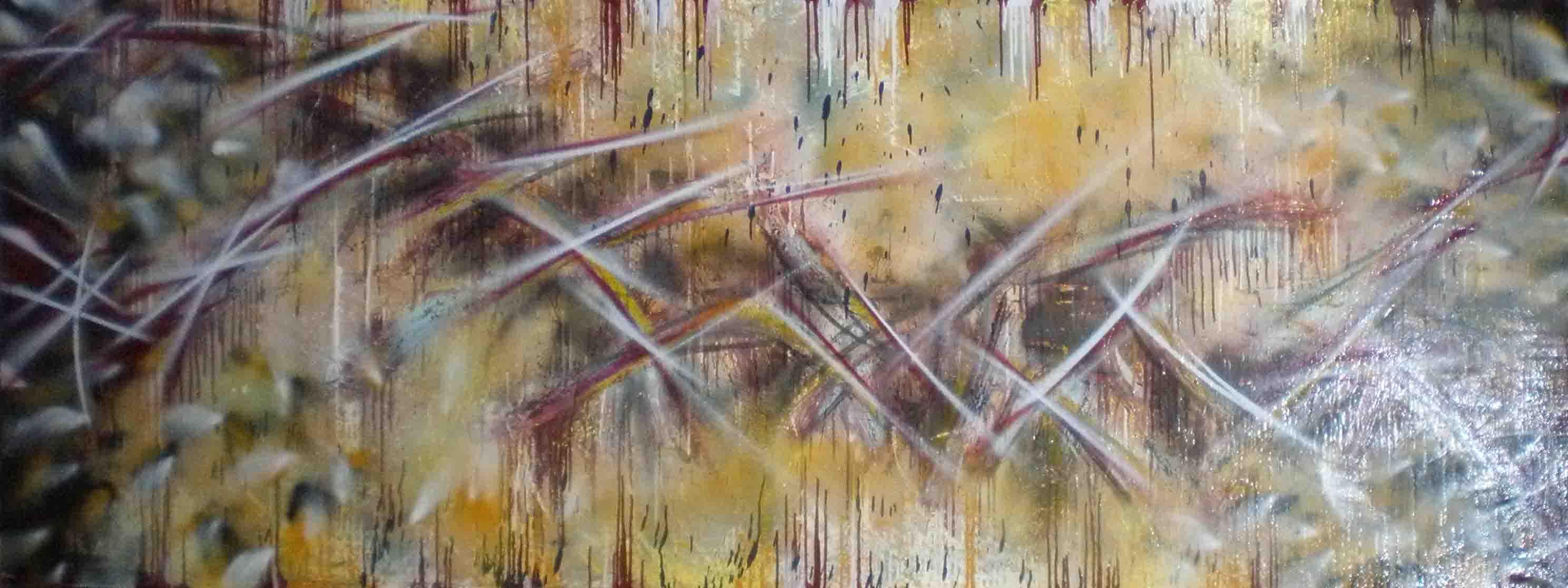 tableau abstrait exactitude en jaune et noir