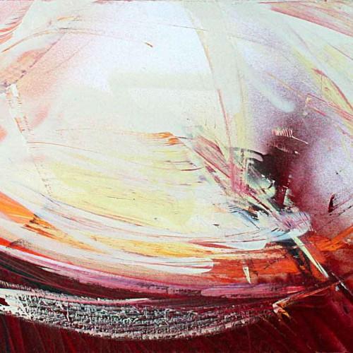 tableau insolation abstrait en mauve beige et blanc