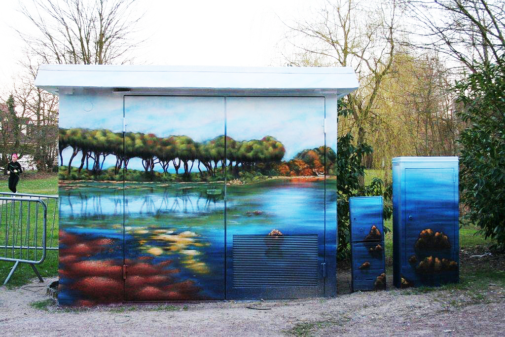 fresques à l'isle adam d'un paysage au bord de l'eau