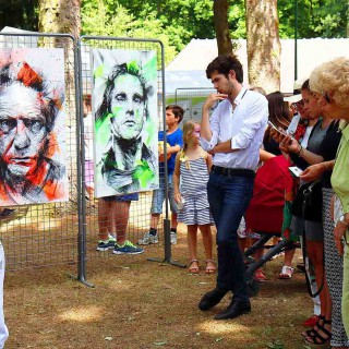 live painting pendant l'expositions le lys chantilly