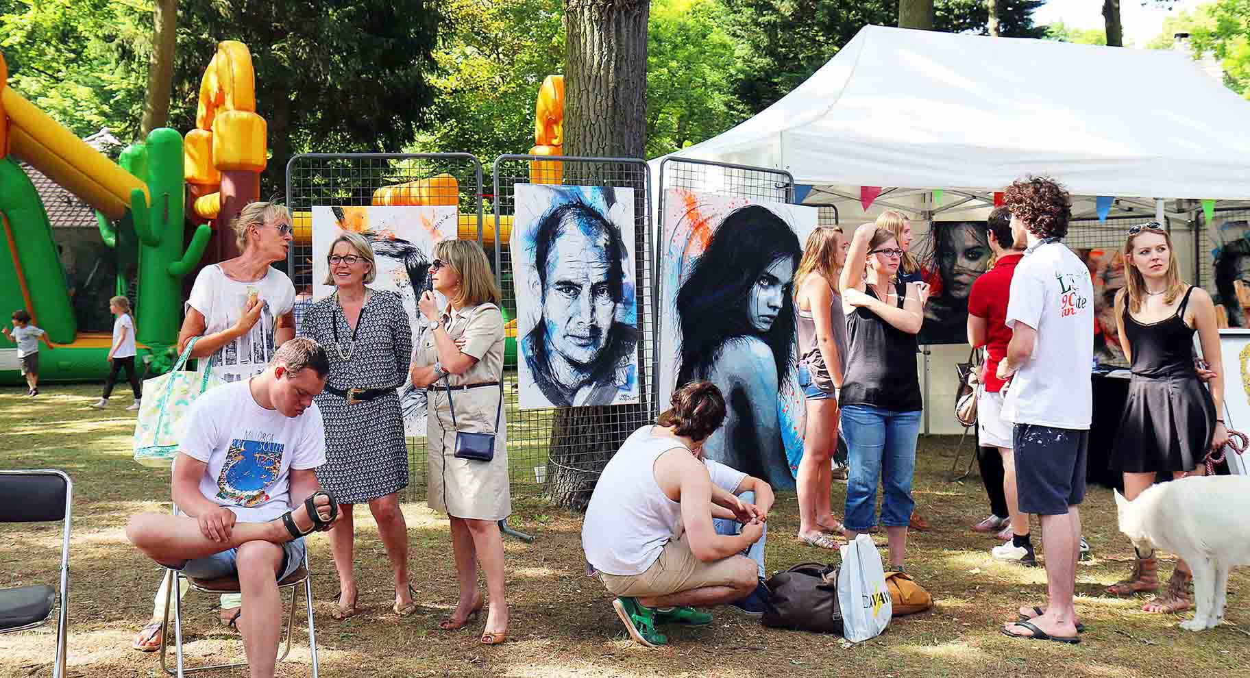 ambiance pendant l'expositions le lys chantilly