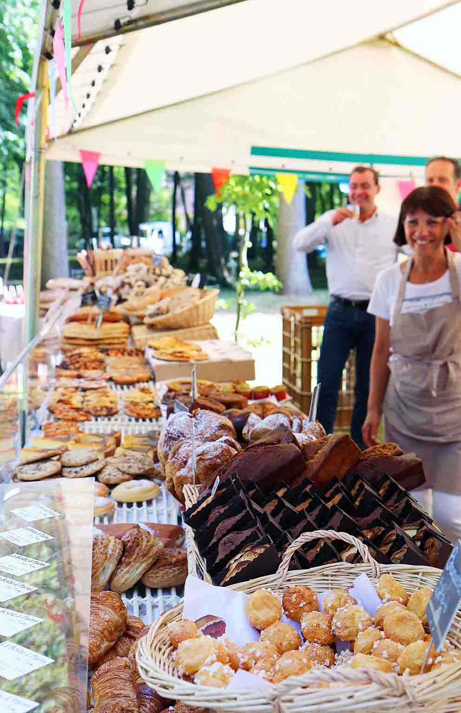 boulangerie et petits croissants pendant l'expositions le lys chantilly