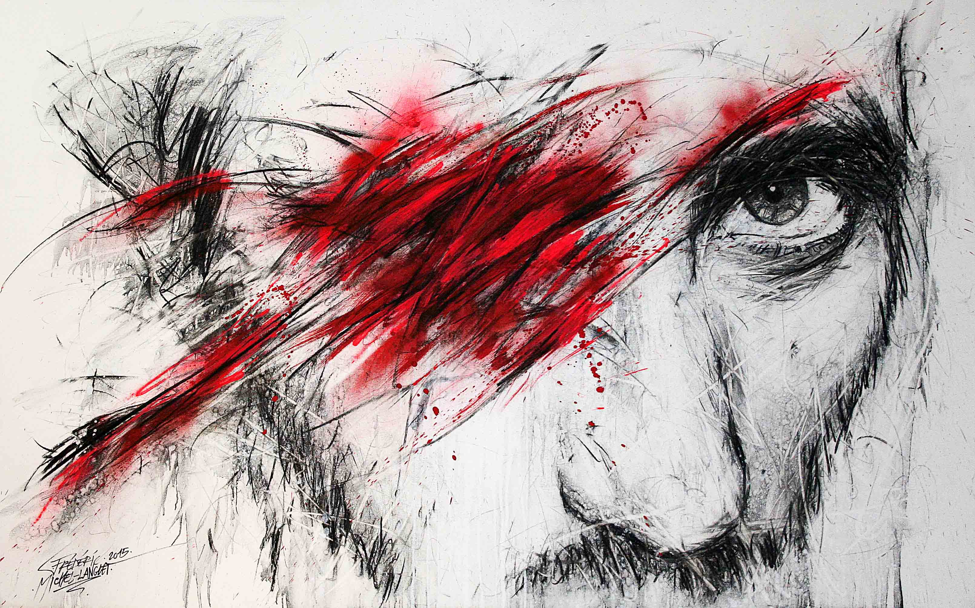 autoportrait de frédéric michel-langlet de la collection idées