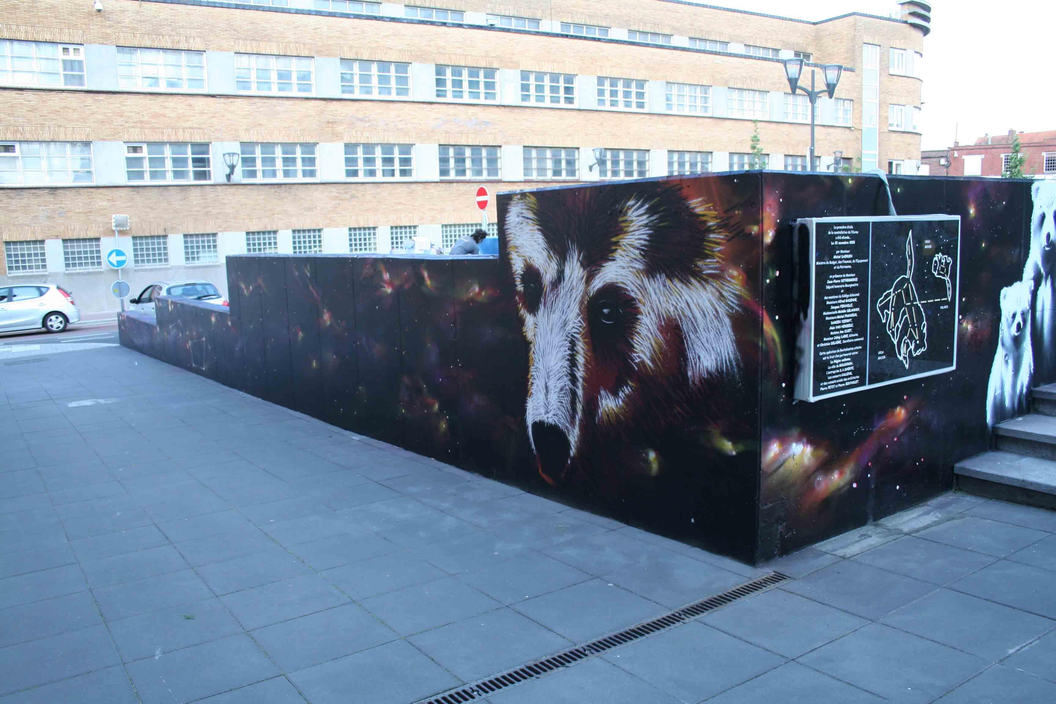 fresques d'un ours à Mouscron