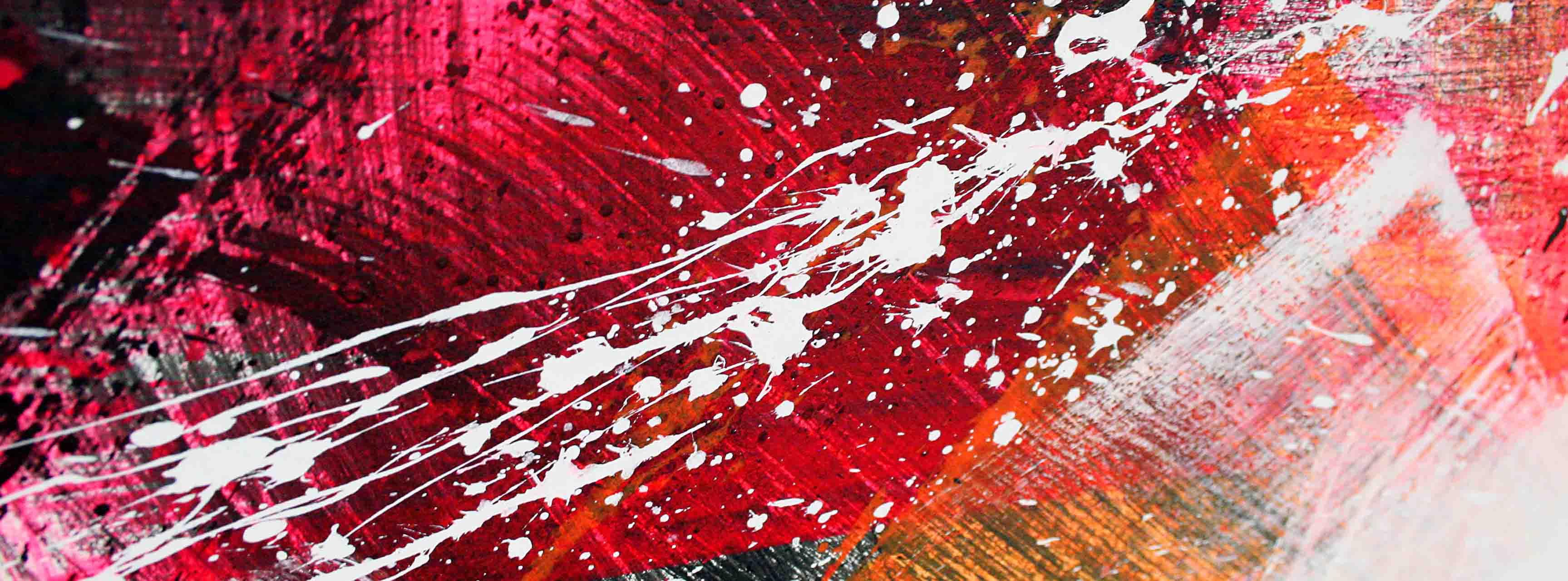 tache et zoom sur une peinture abstraite