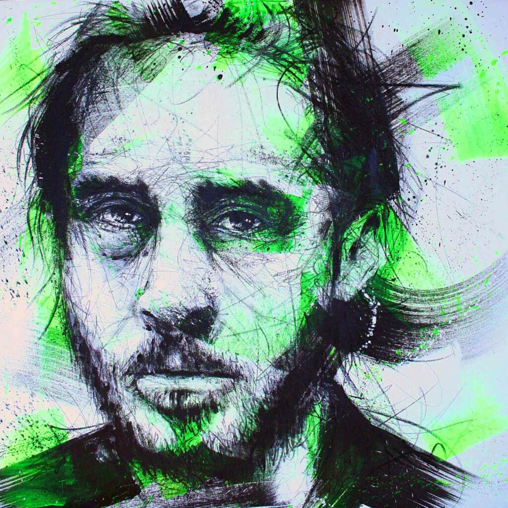 ryan gosling de la collection de peinture chromophobia