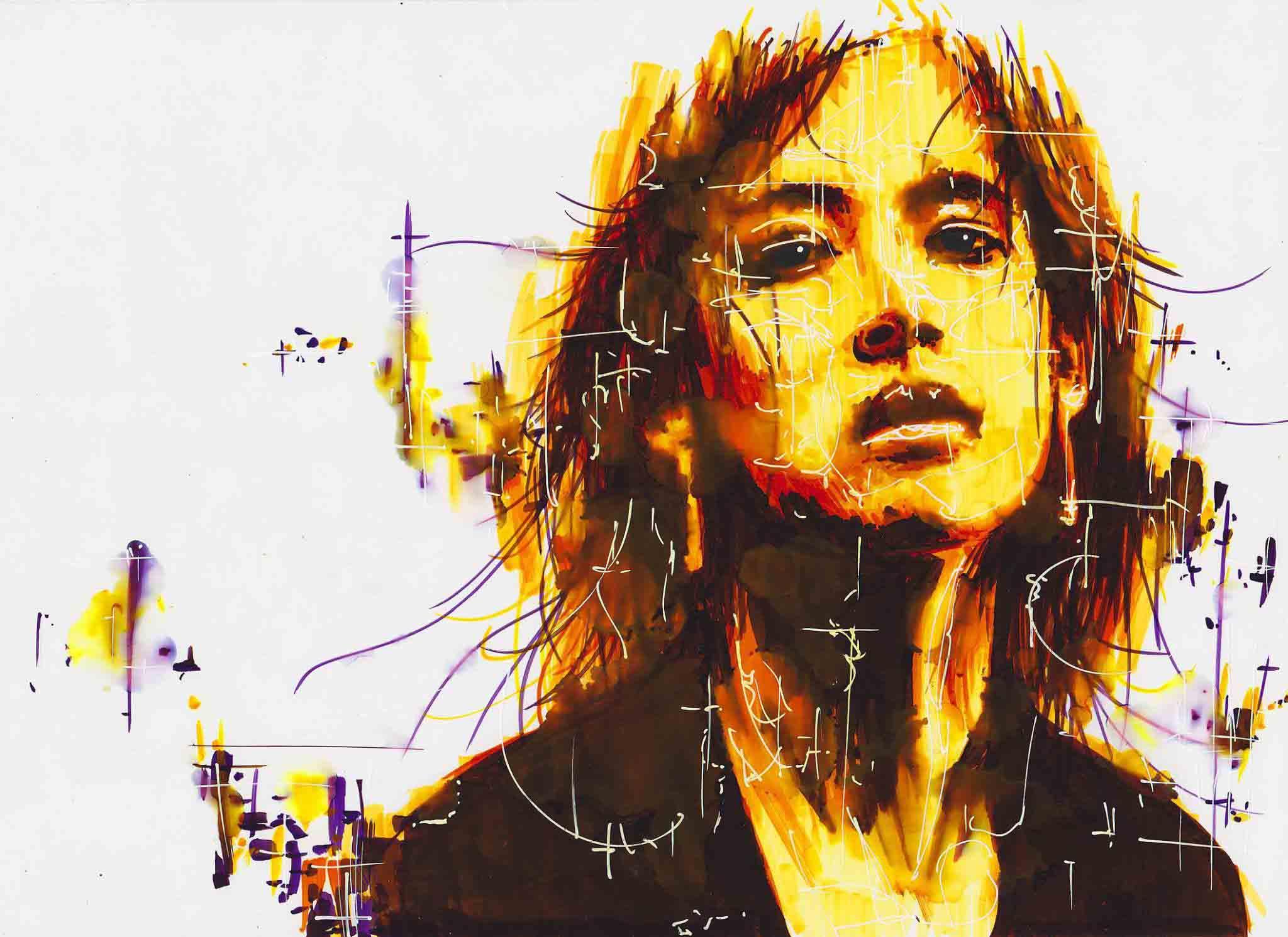 portrait érosion de sophie marceau de la collection idées