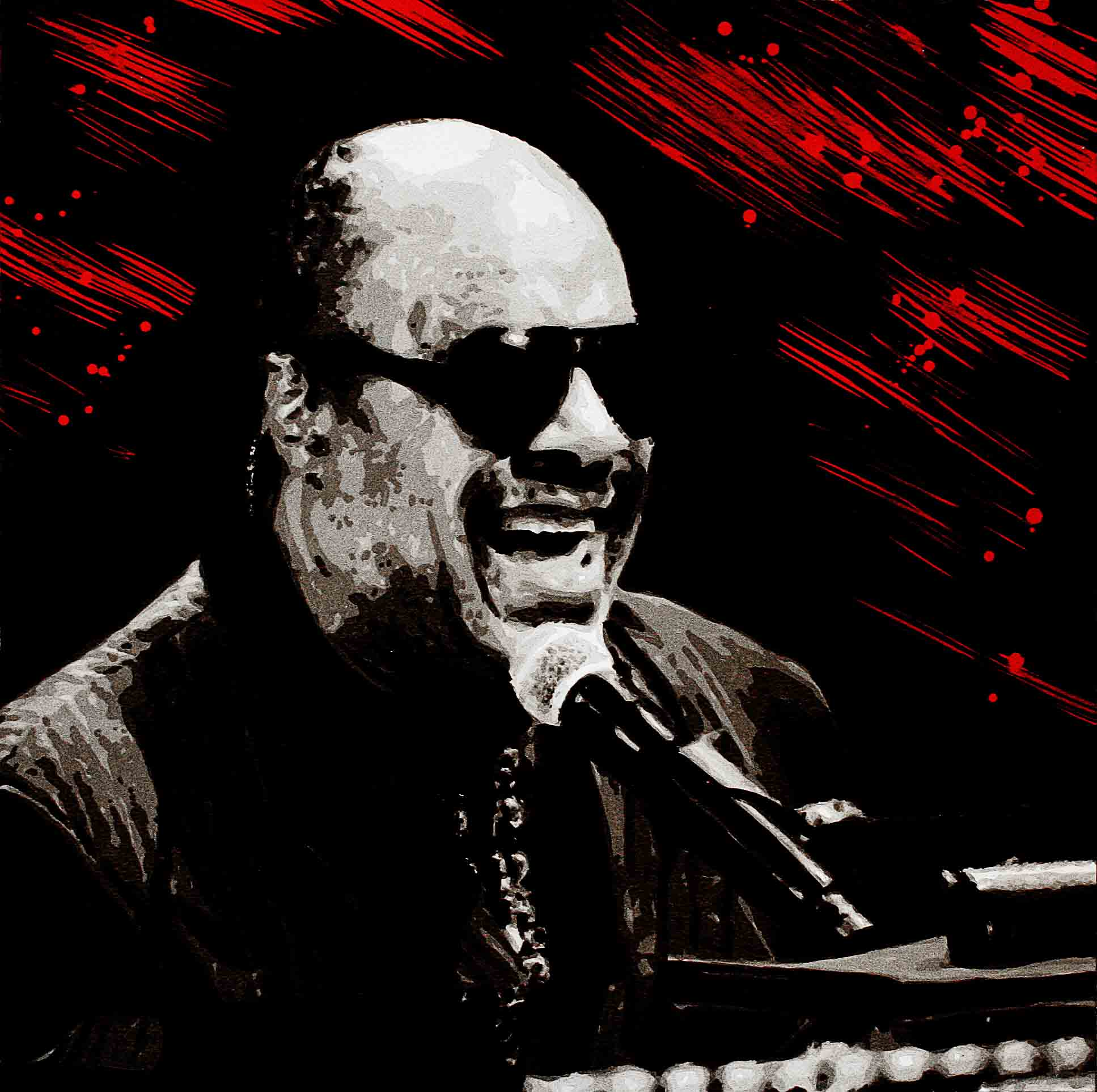 portrait sur mesure de stevie wonder