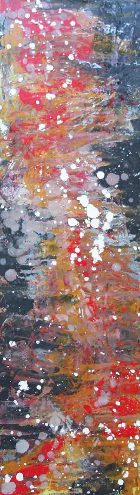 tableau abstrait tache et beauté en rouge et noir