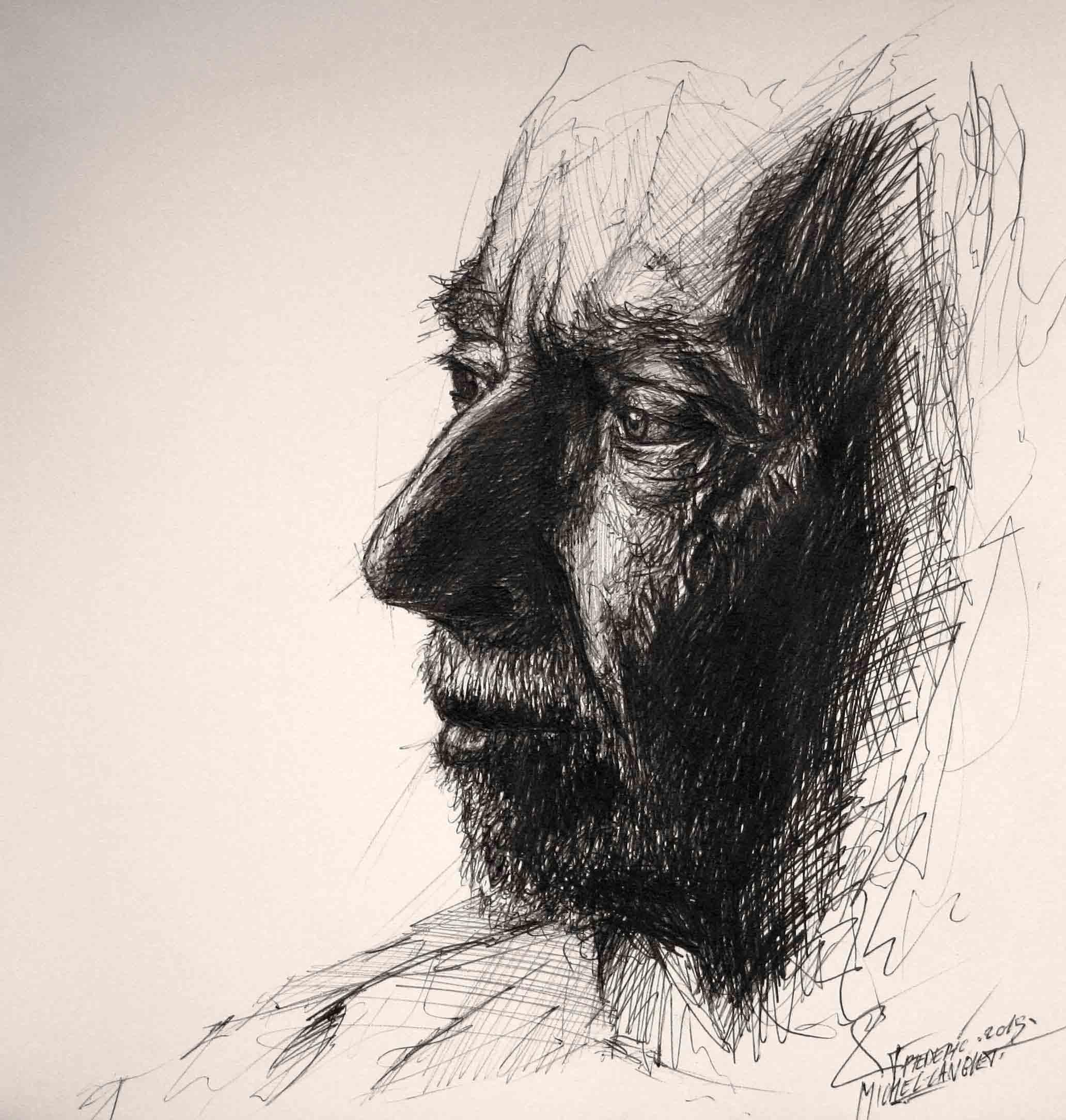 portrait d'un vieillard de la collection idées