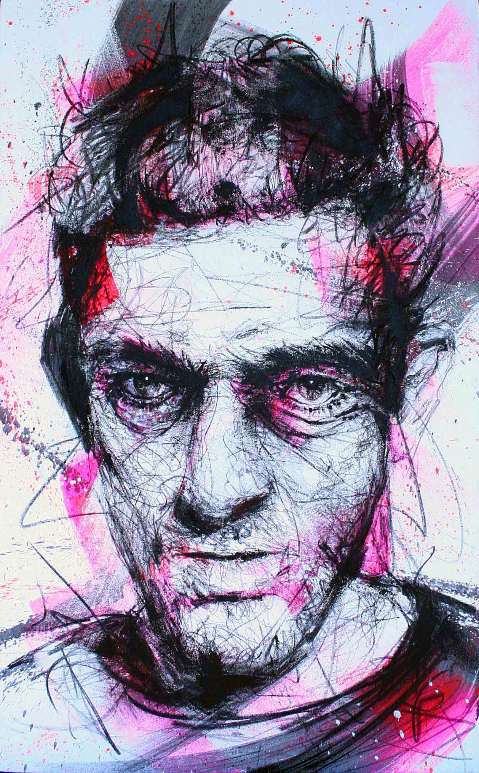 vincent cassel de la collection de peinture chromophobia
