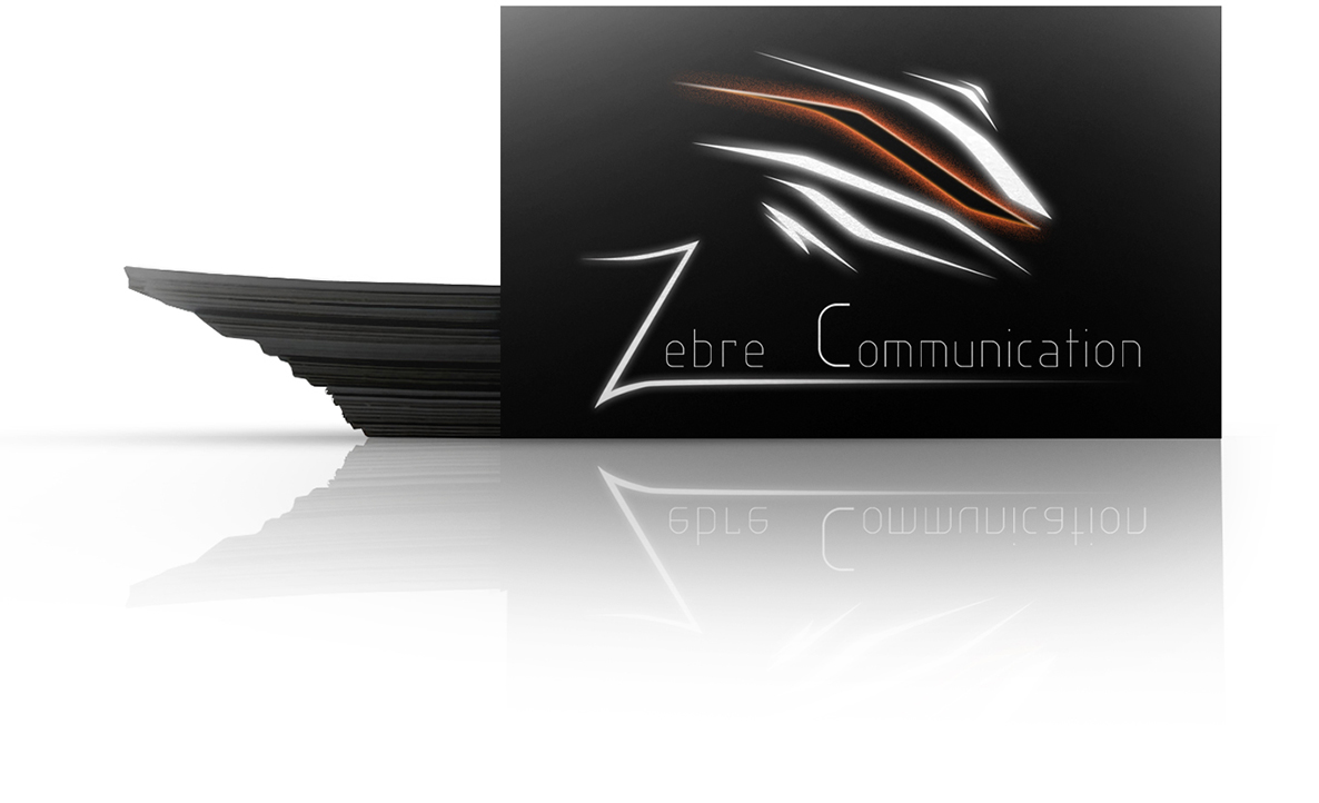 carte de visites de zebre communication