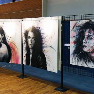 mes oeuvres exposées lors de l'expositions du festival de gouvieux