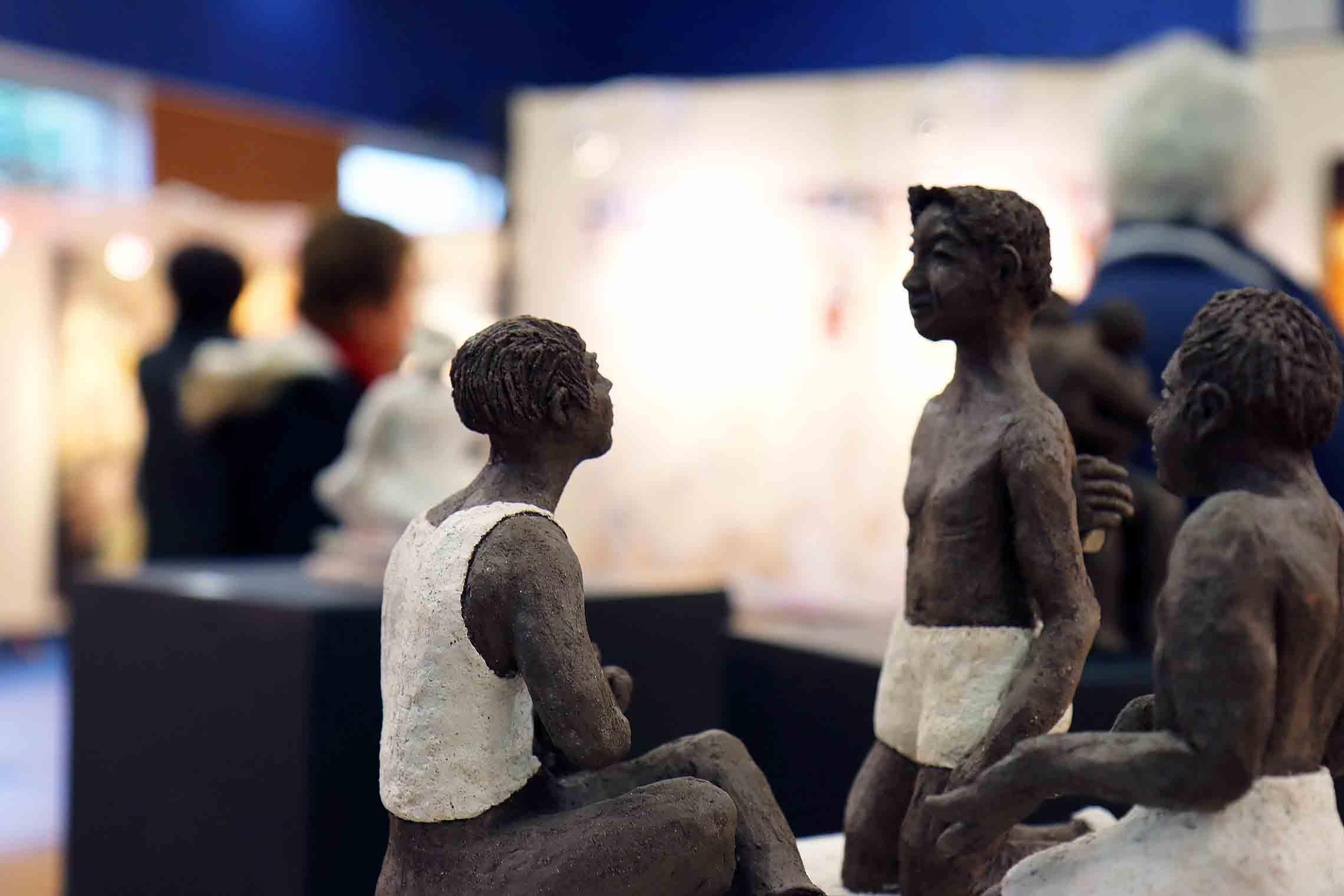 zoom sur une sculpture de l'expositions du festival de gouvieux