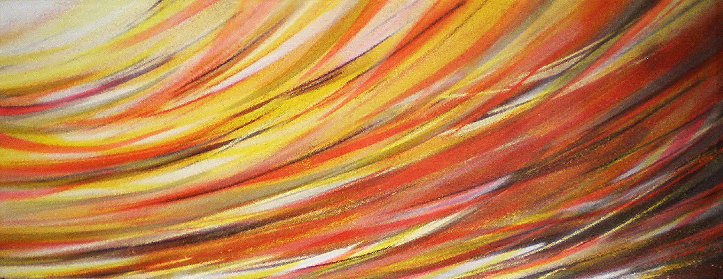 tableau amnesie abstrait noir rouge orange et jaune