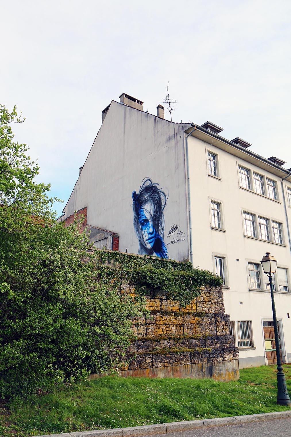 fresque de barbara palvin à l'expositions d'alkirch au festival le court