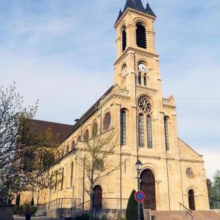 eglise d'altkirch pendant l'expositions au festival le court en alsace