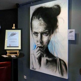 plaquette de présentation du portrait de torpeur à l'expositions histoire 2 à chantilly