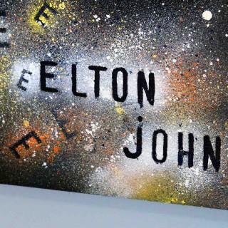 zoom du portrait d'elton john de la collection ekinox de l'expositions de gouvieux