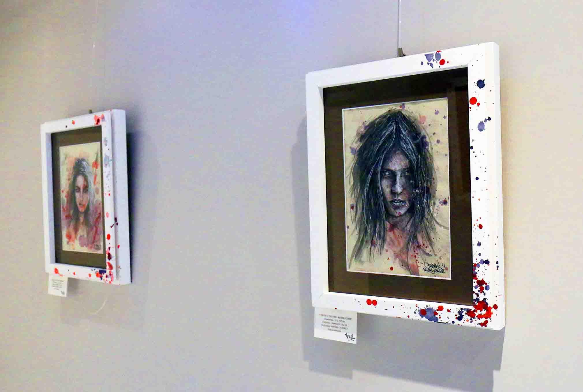 portrait révolution de la collection parhélie de l'expositions de gouvieux