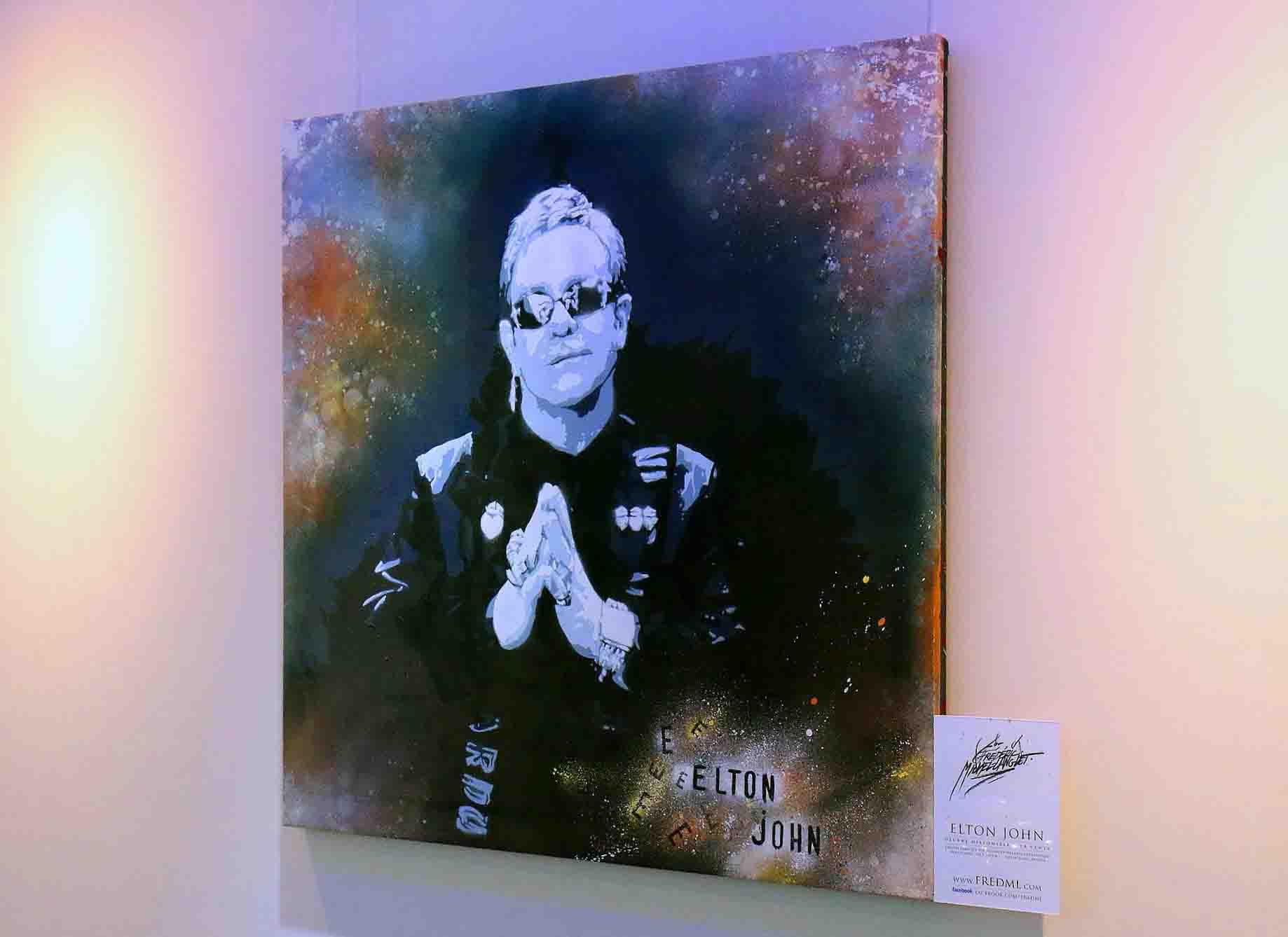 portrait elton john de la collection ekinox de l'expositions de gouvieux