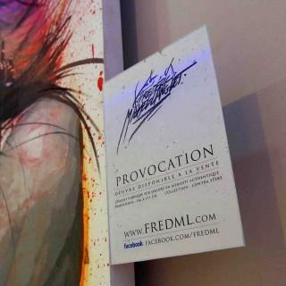 plaquette de présentation du portrait provocation de la collection contra stare de l'expositions de gouvieux