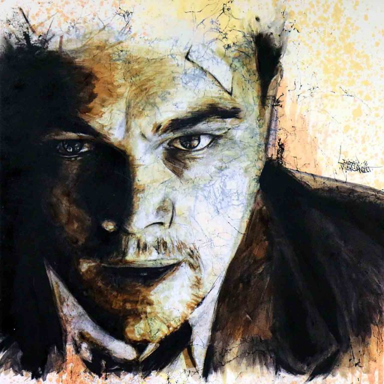 portrait de l'acteur leonardo dicaprio de la collection marbre