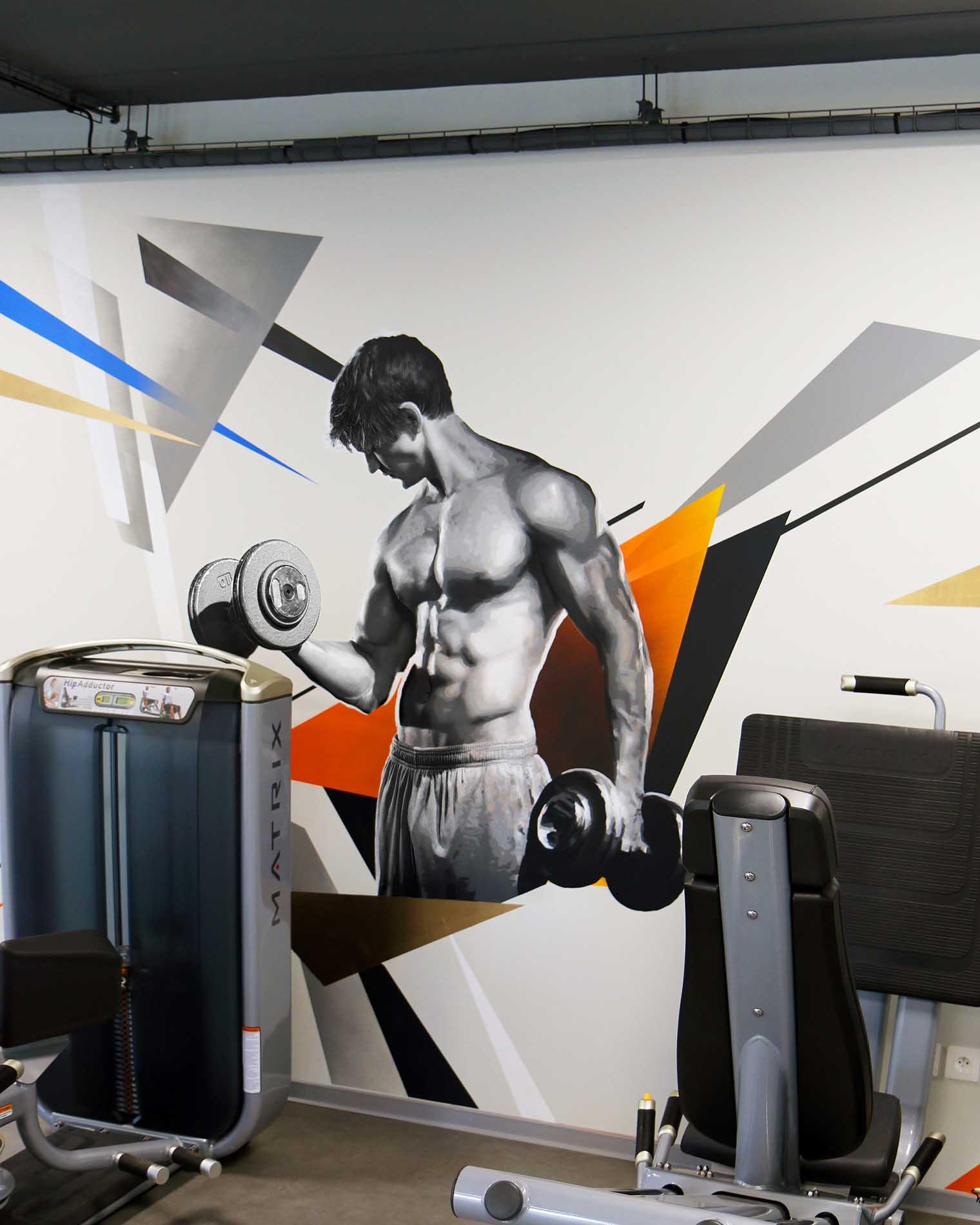 portrait d'un sportif dans la salle de sport fit & spa réalisé par frédéric michel-langlet