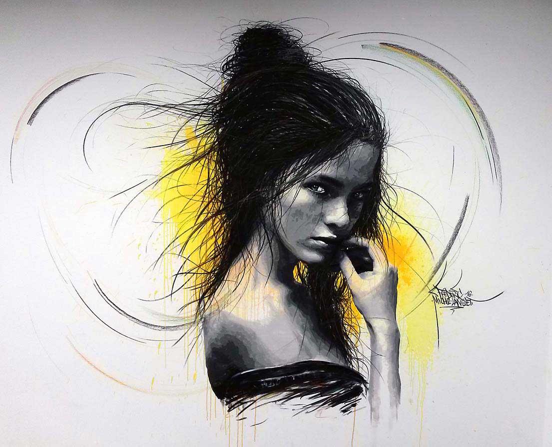 Anastasia Kolganova Fresque du cabinet DERMO'sun réalisée par frédéric michel-langlet
