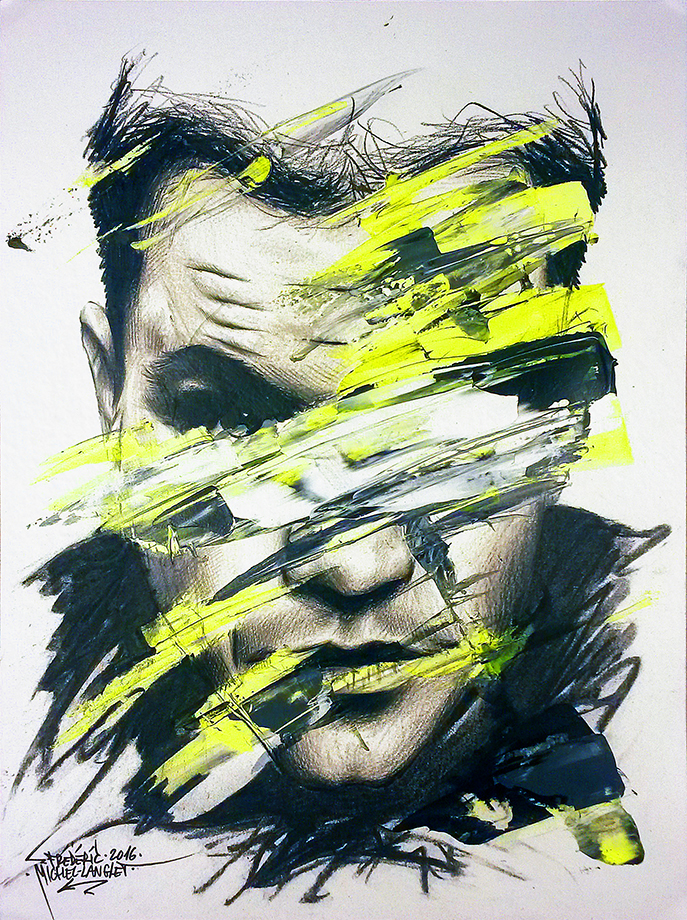 portrait obsession de matt damon de la collection apparence