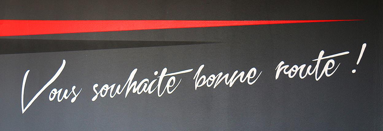 typographie réalisée par frederic michel-langlet à autoclean 60 de Compiègne