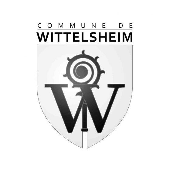 Logo de la commune de wittelsheim en alscace