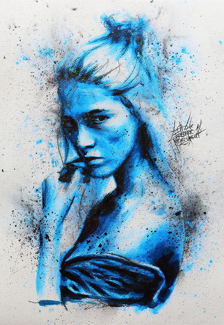 Portrait bleu dust de anastasia kolganova de la collection stellar de frederic michel langlet fredml