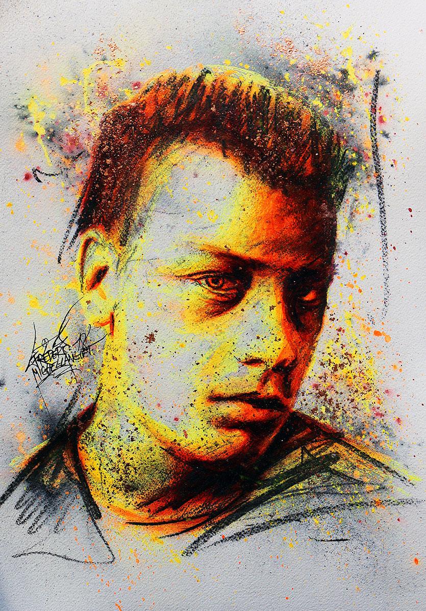Portrait jaune defiance de antoine olivier pilon de la collection stellar de frederic michel langlet fredml