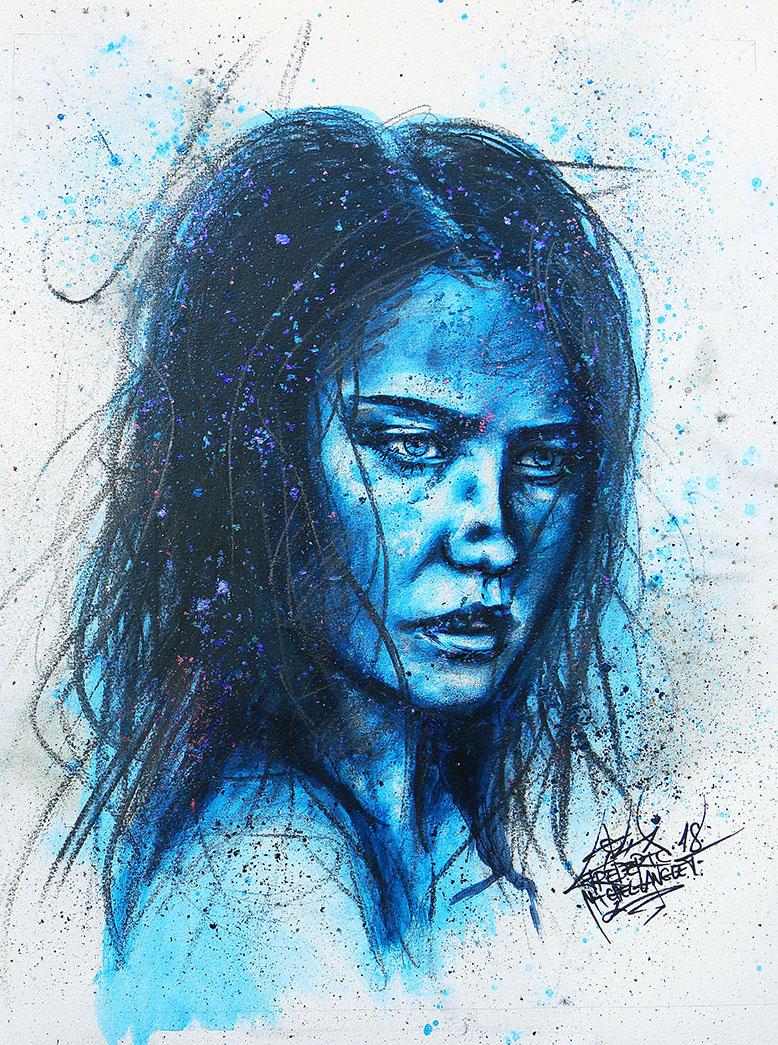 Portrait bleu evasion de la collection stellar de frederic michel langlet fredml