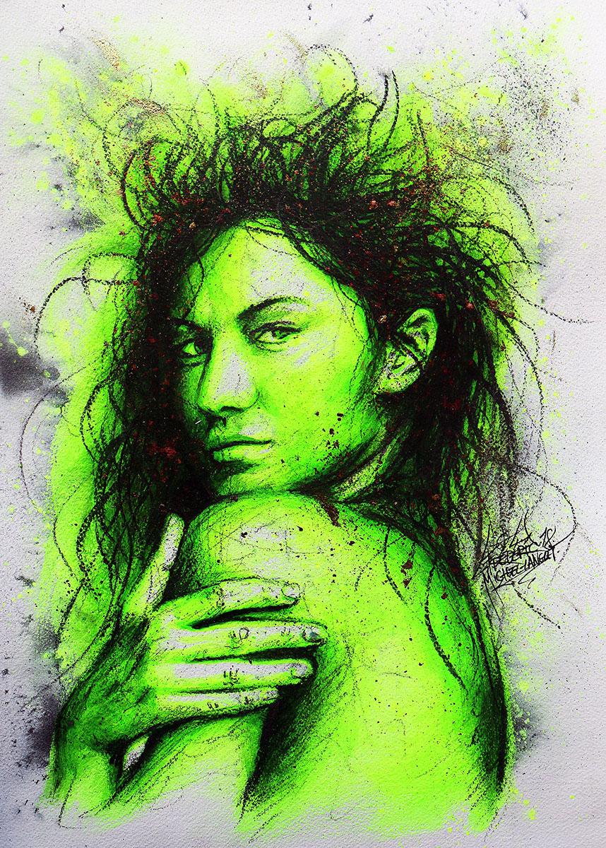 Portrait vert jaune insolence de gisele bundchen de la collection stellar de frederic michel langlet fredml