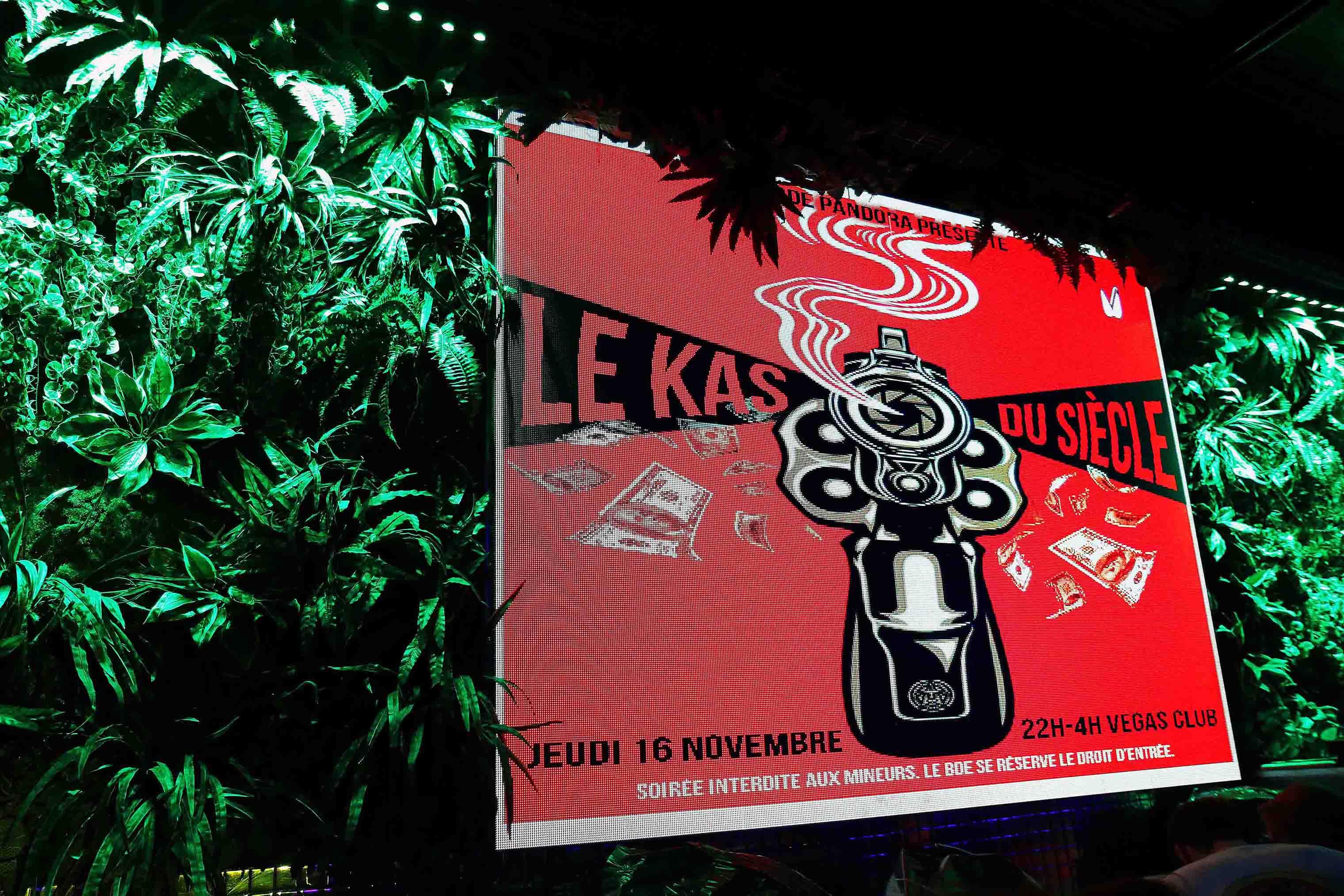 mur végétal de l'exposition de frédéric michel langlet de la collection contra stare au vegas pub à l'isle adam