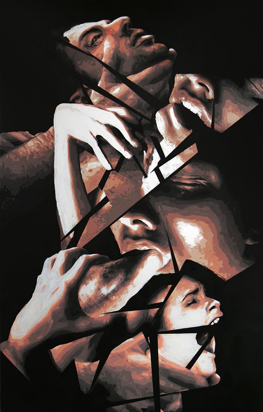 tableau pornocracy de la collection fragments réalisée par frederic michel langlet
