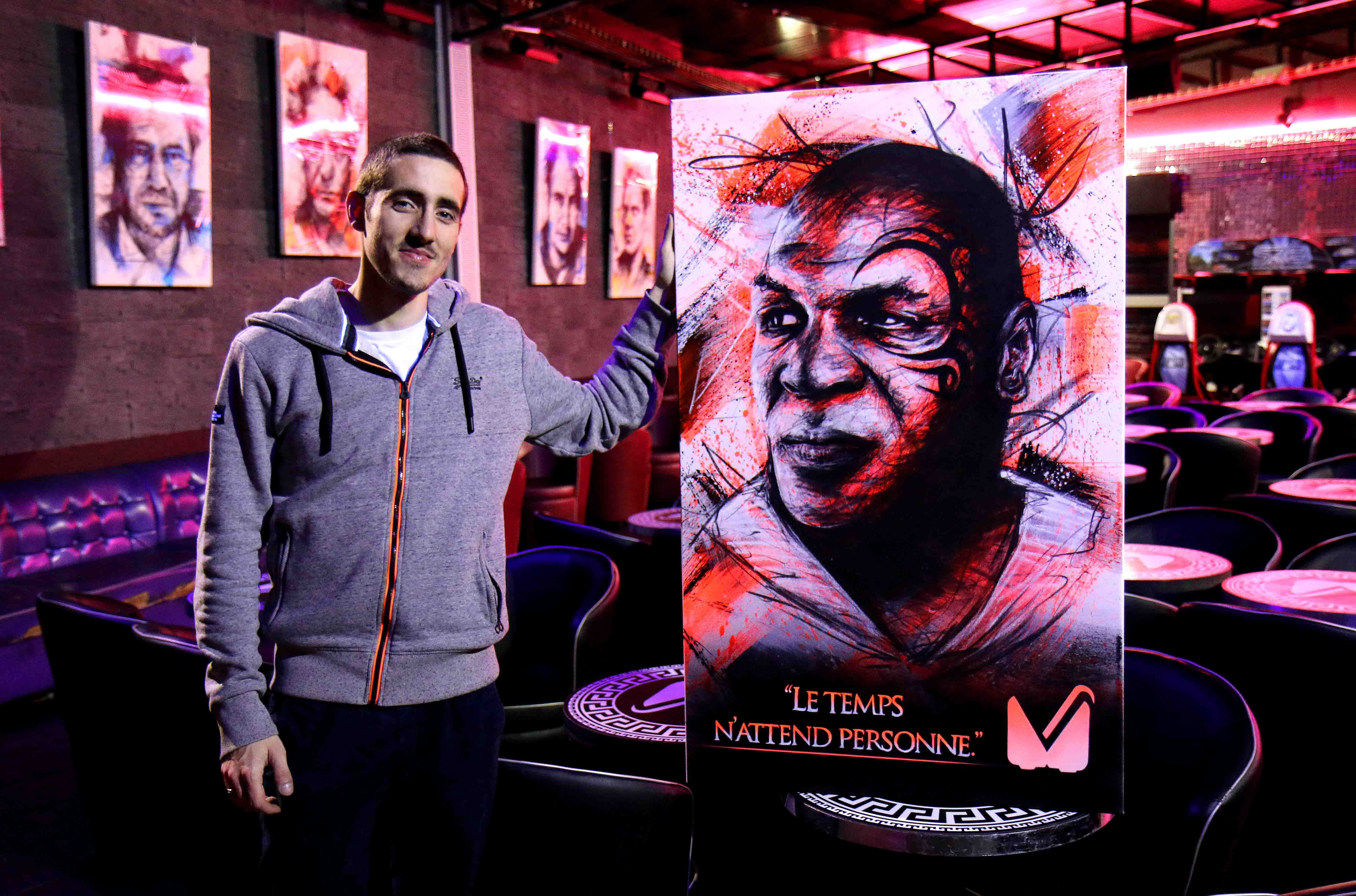 tableau mike tyson au vegas pub à l'isle adam réalisé par frederic michel langlet