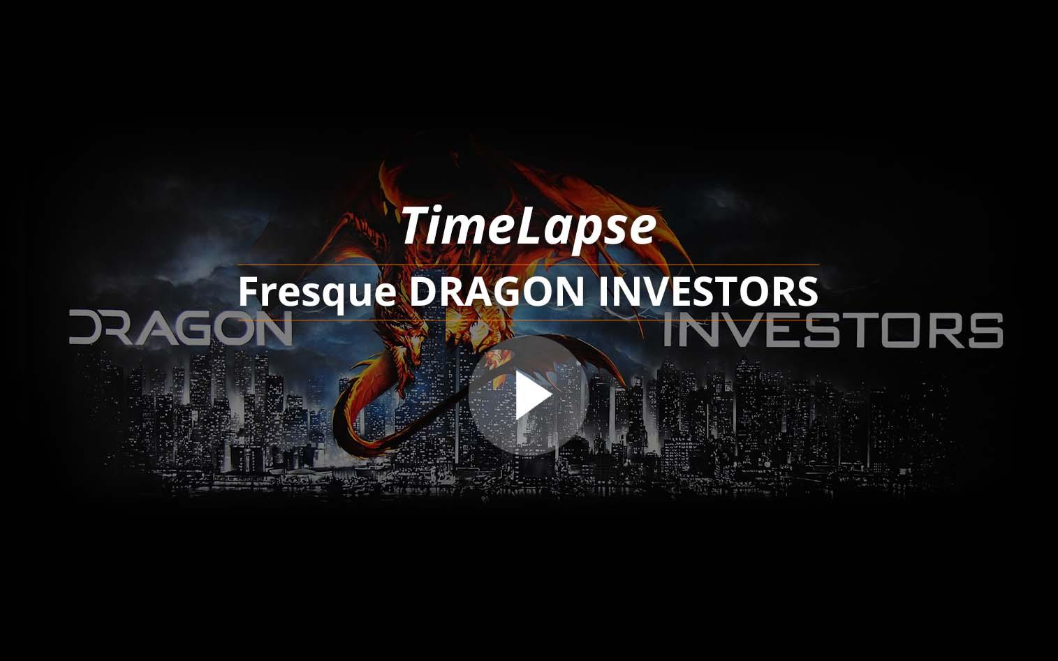 vignette video fresque dragon investors realisée à barcelone pour la société par frédéric michel langlet